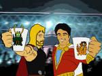 Captain Marvel Shazam and Thor