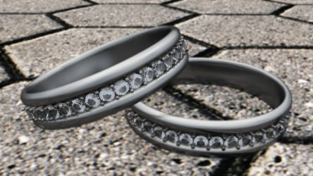 Diamond Ring - Cinema 4D by kingadir10