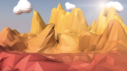 Low-Poly Mountains -C4D