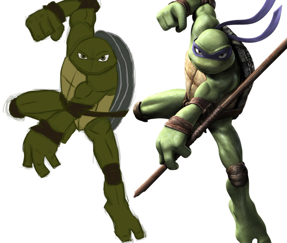 Practice Sketch: Donatello by Hyikate