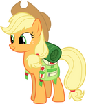 Applejack with camping gear
