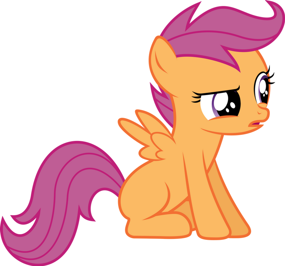 Skeptical Scootaloo by Synthrid