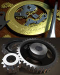 Steampunk Coin and Gears