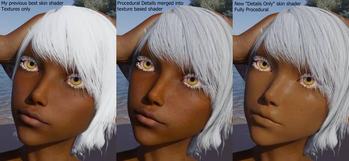 Procedural Skin Detail Shader Test