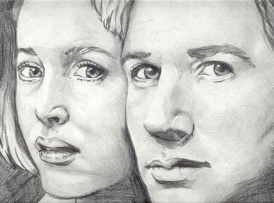 Mulder and Scully by sevgrlx