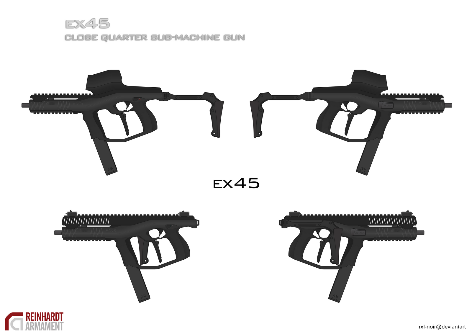 EX45 Sub-Machine Gun by Rxl-Noir