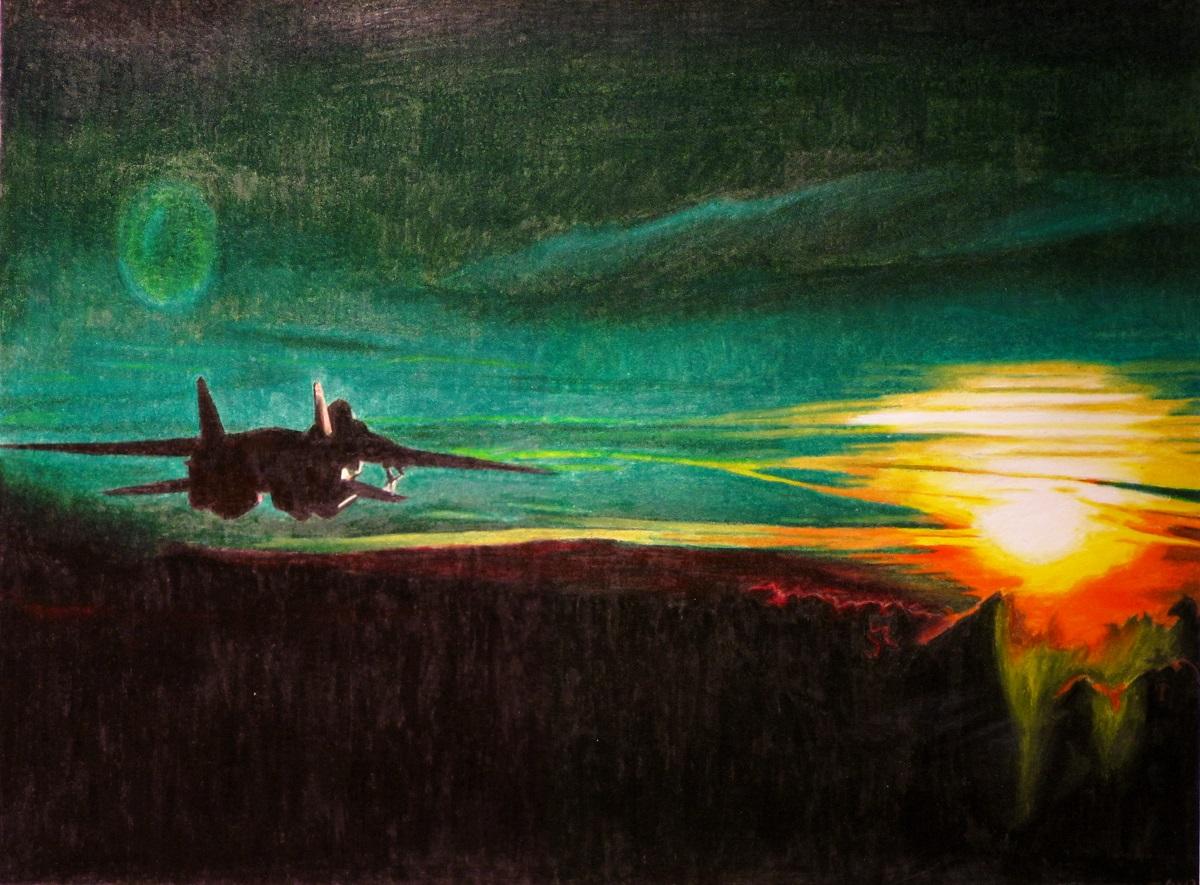 Green Sunset by r0ketman