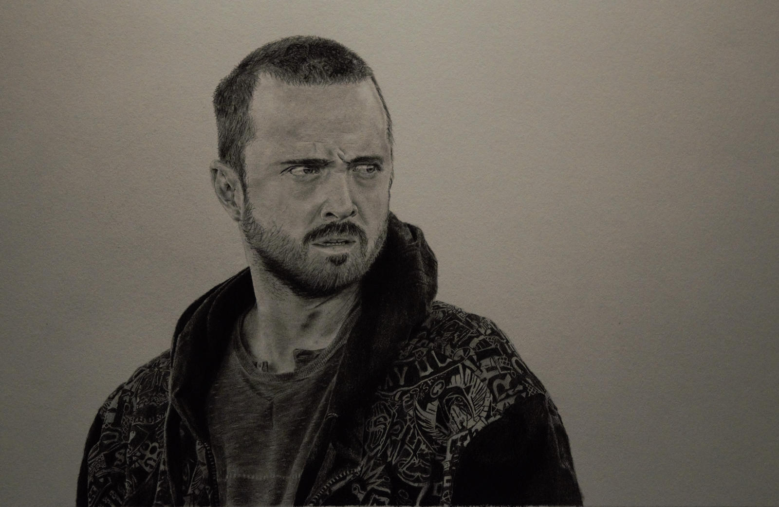 Jesse Pinkman Drawing Progress by r0ketman