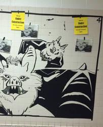 Tape mural- bats by darnheck