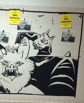Tape mural- bats
