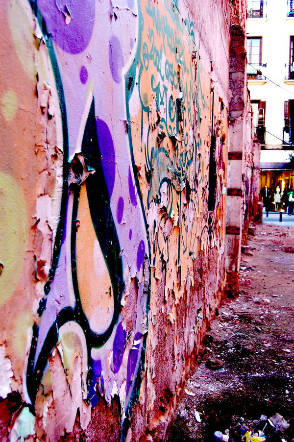 madrid graffiti 1 by Din0saur