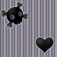 Hearts and Skulls Pattern by Kikariz-Stock