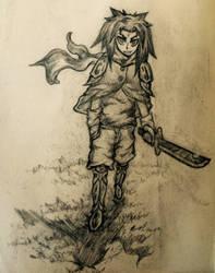 Wondering warrior stketch by needformang