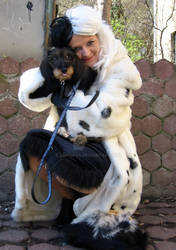 Cruella and Teyla the Dachshund