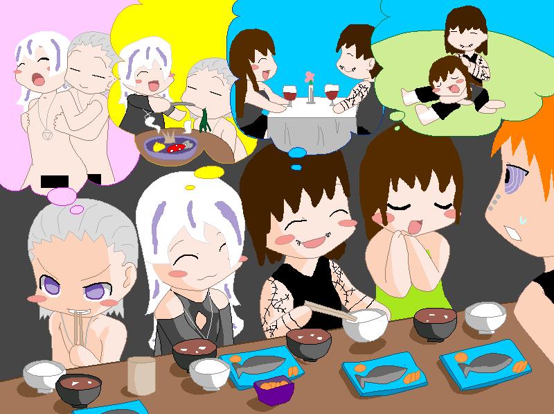 Akatsuki lunch time .3. by HidanFanGurl on deviantART