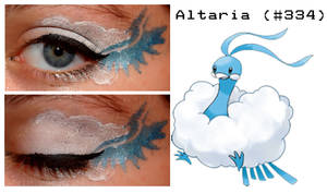 Pokemakeup 334 Altaria by nazzara