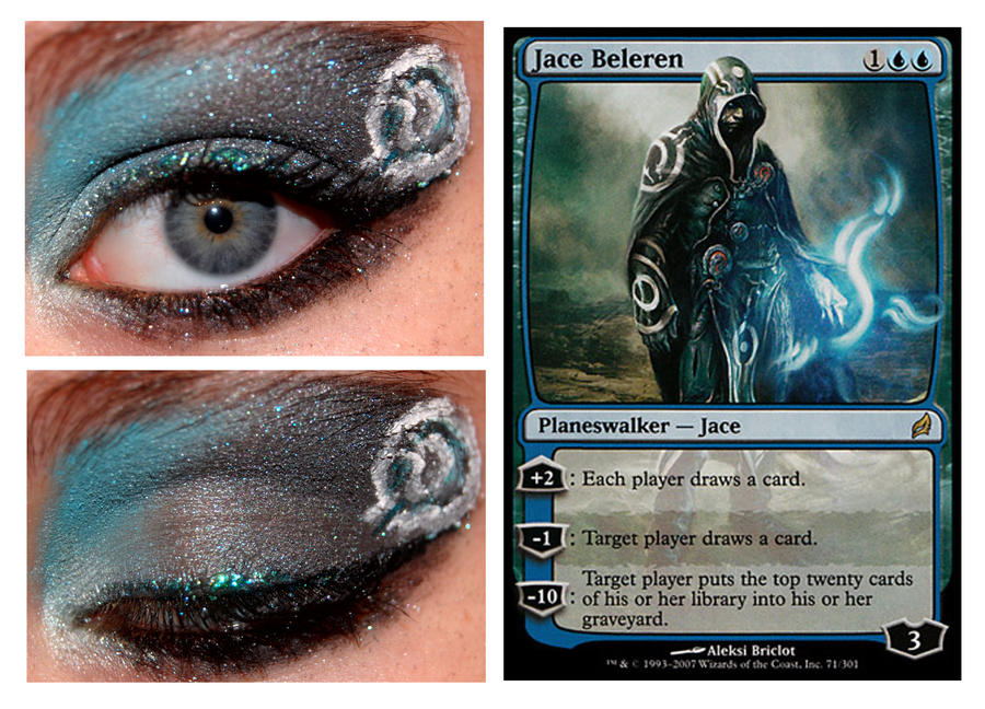 Magic Card Makeup: Jace Beleren by nazzara