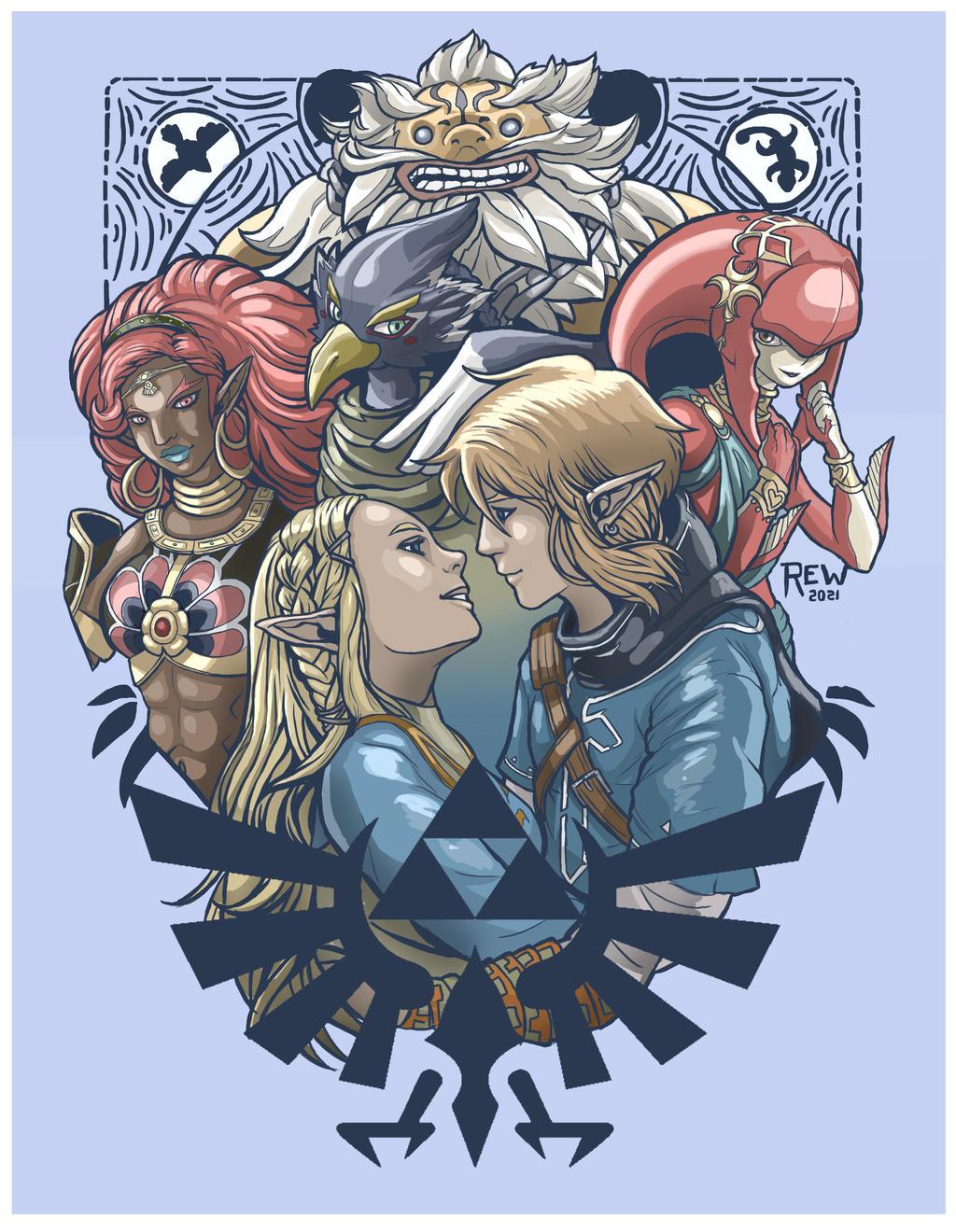Zelda tatoo couleur