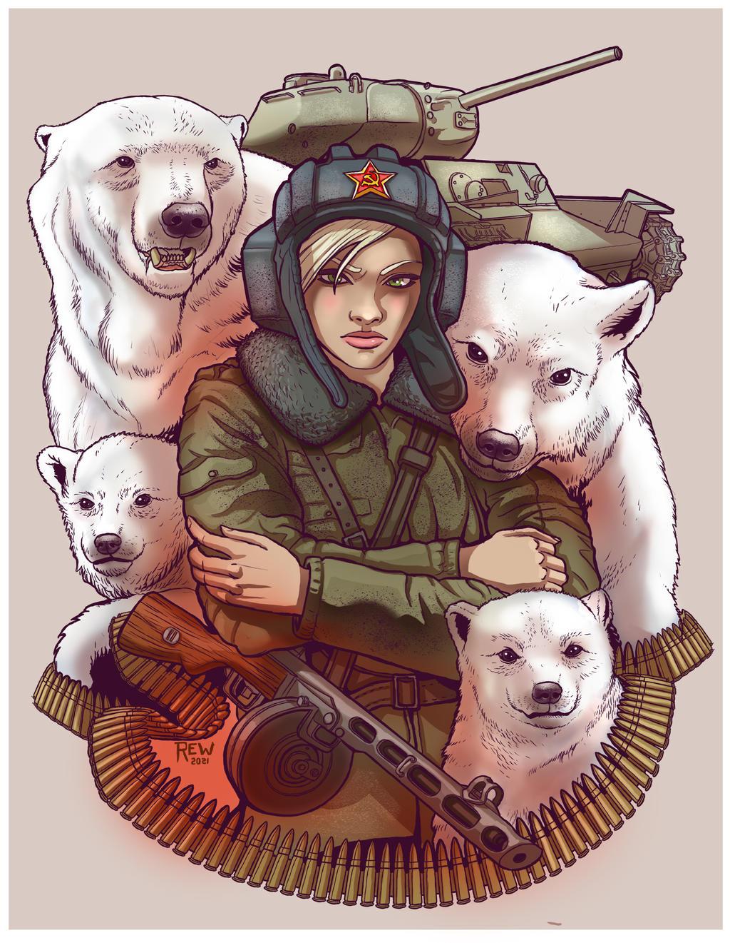 Tatoo soviet couleur