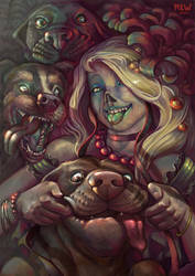 Zombie and dogs