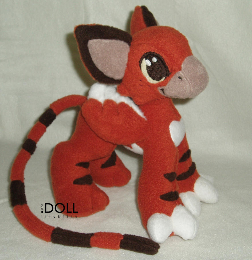 Tiger Gryphon Kitten Plush by dot-DOLL