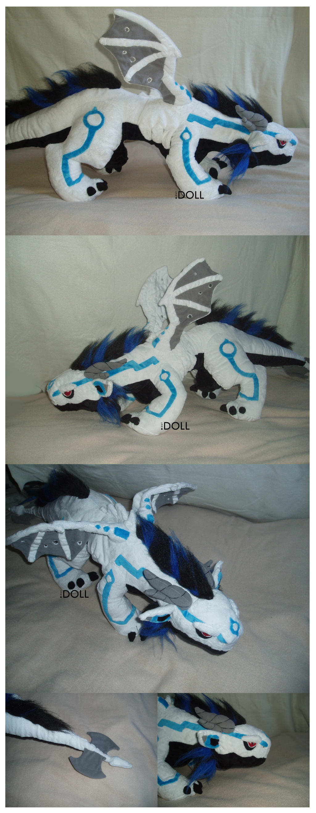 Meka - Giant Dragon Plush by dot-DOLL