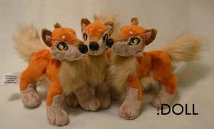 Mini Wolf Plush x 3