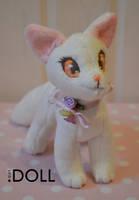 FOR SALE - Mini Albino Fox Plush by dot-DOLL