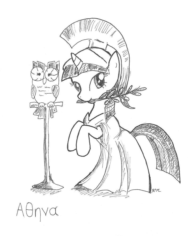 Athena Greek Mythology Drawing Athena Twilight Sparkle
