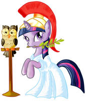 Athena Twilight Sparkle Colored by CatScratchPaper