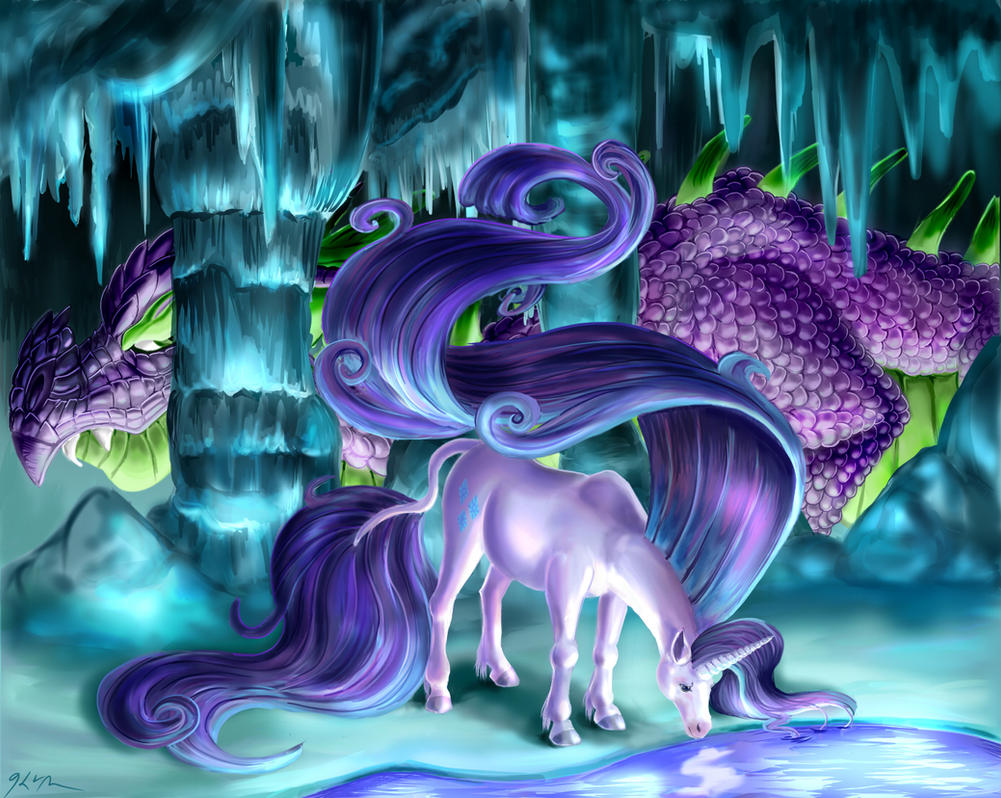 A Dragon Watches by CatScratchPaper