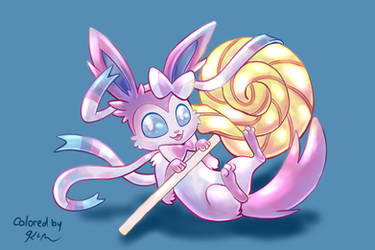 Sylveon Coloring Experiment by CatScratchPaper