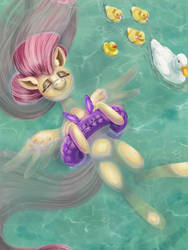 Summershy by CatScratchPaper