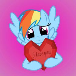 Rainbow Dash loves you by GAlekz
