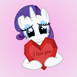 Rarity loves you by GAlekz