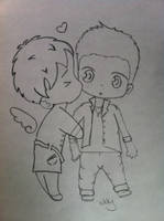 Castiel and Dean by Nikky81