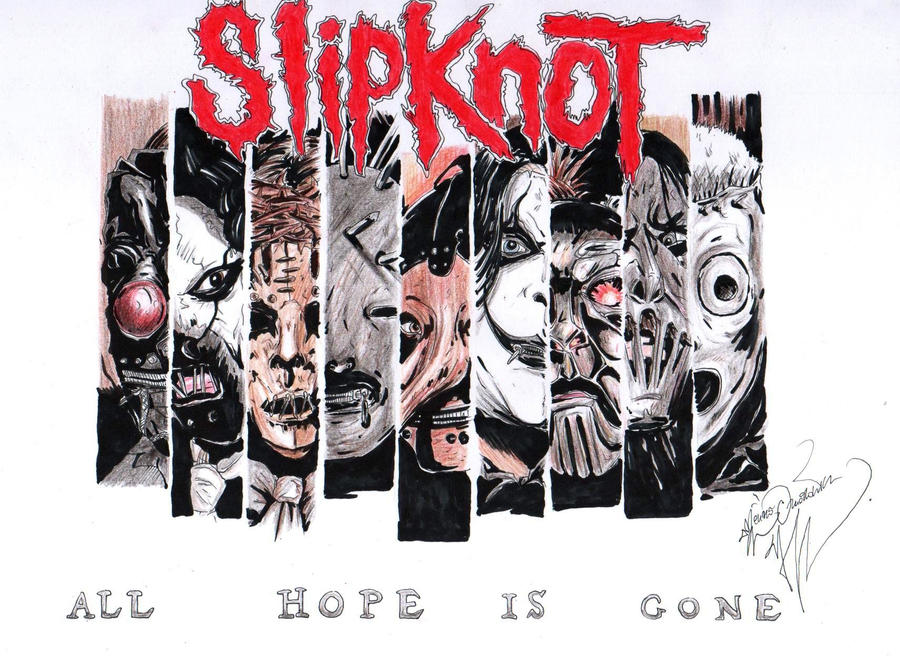 slipknot all hope is gone by GhostShark94 on DeviantArt