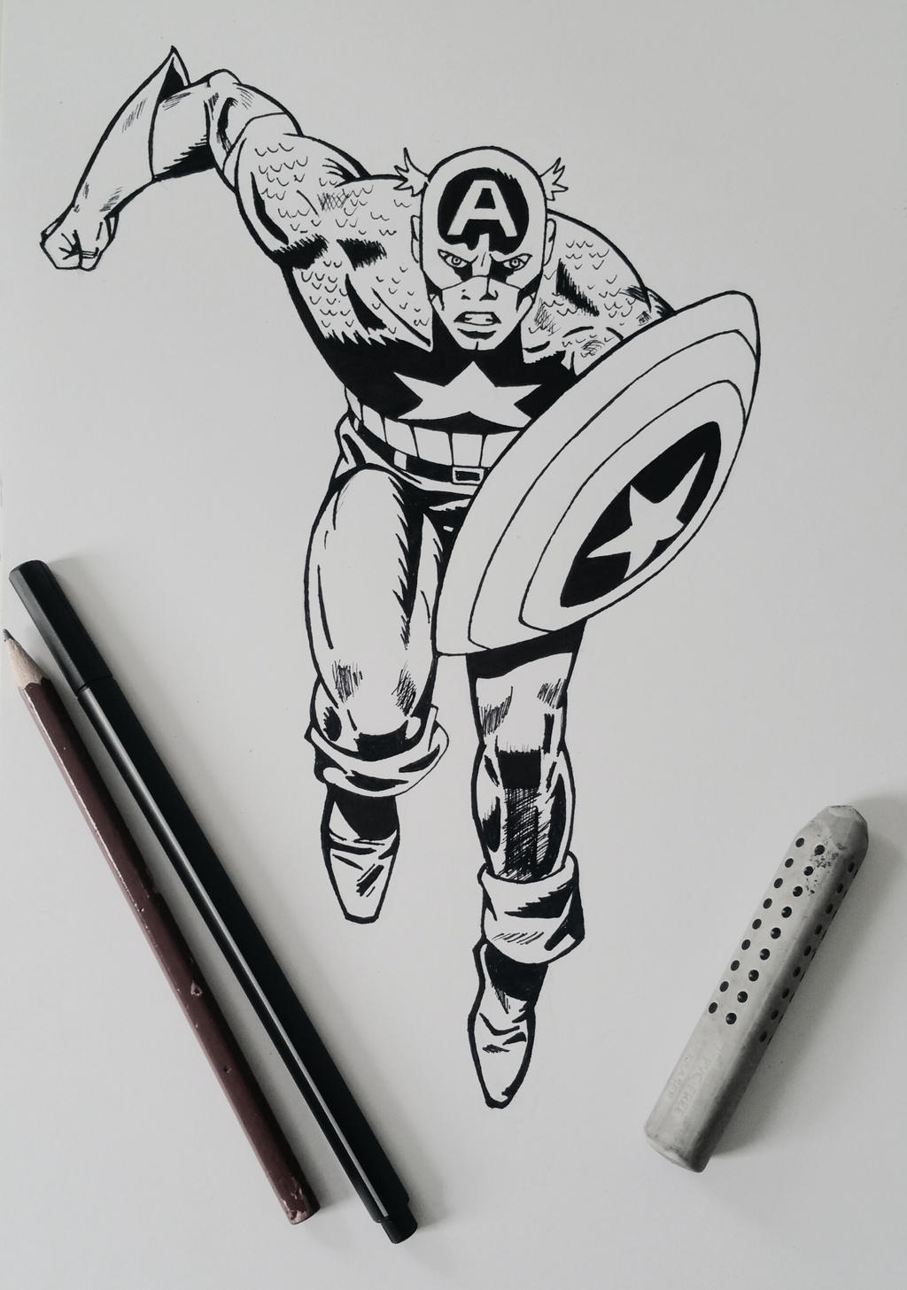 Line Drawing Usa : Captain america line art by xxinfinite firexx on deviantart