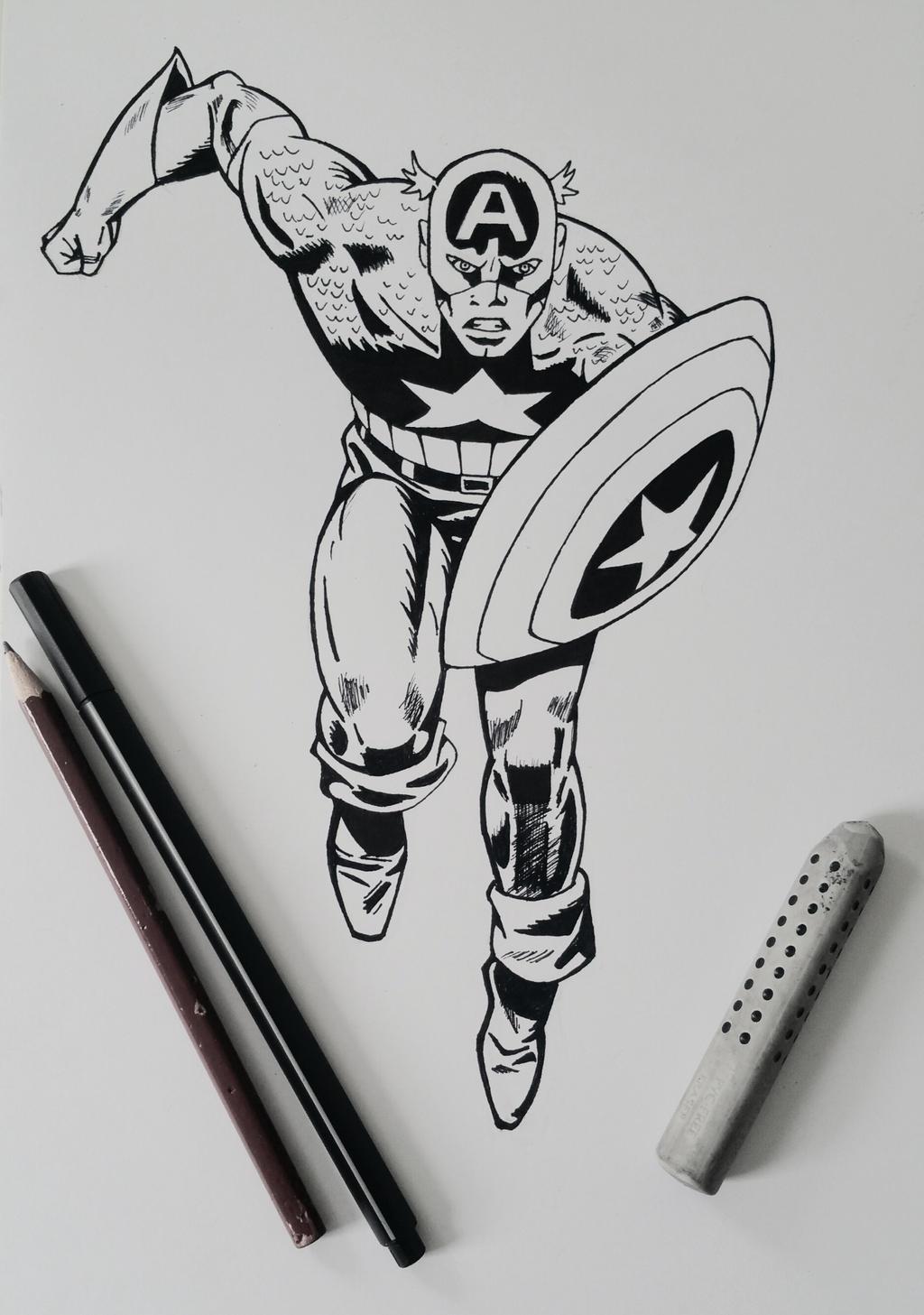 Line Art America : Captain america line art by xxinfinite firexx on deviantart