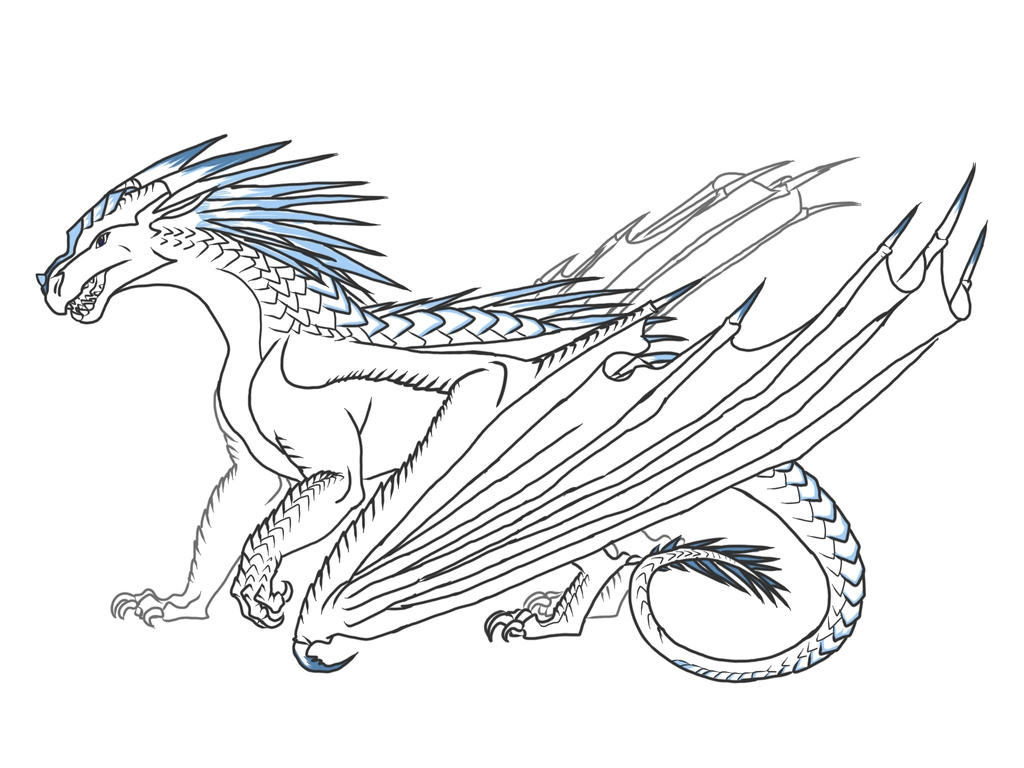 wings of fire rainwing dragon coloring pages coloring pages