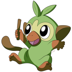 Grookey by Rebexorcist
