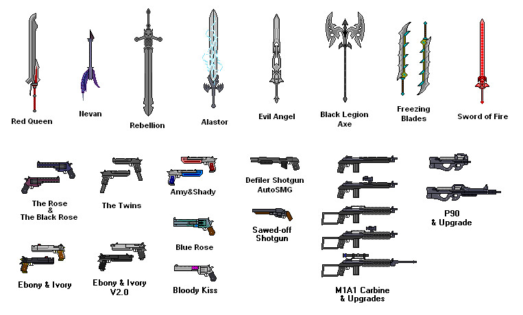 Weapons by RenegadeTH