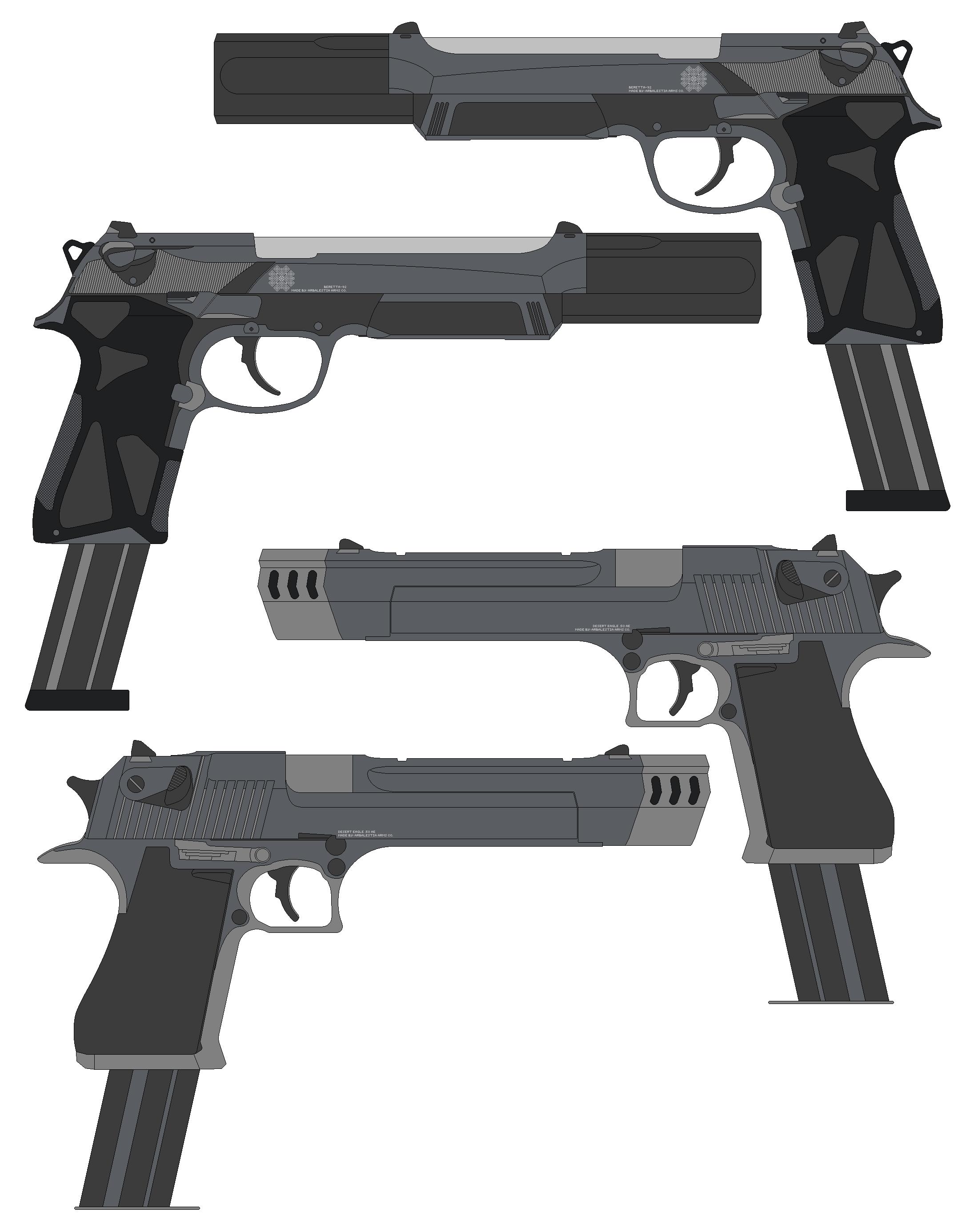 DE's and Berettas for Tofu93 and Koorimizu-K by RenegadeTH on ...