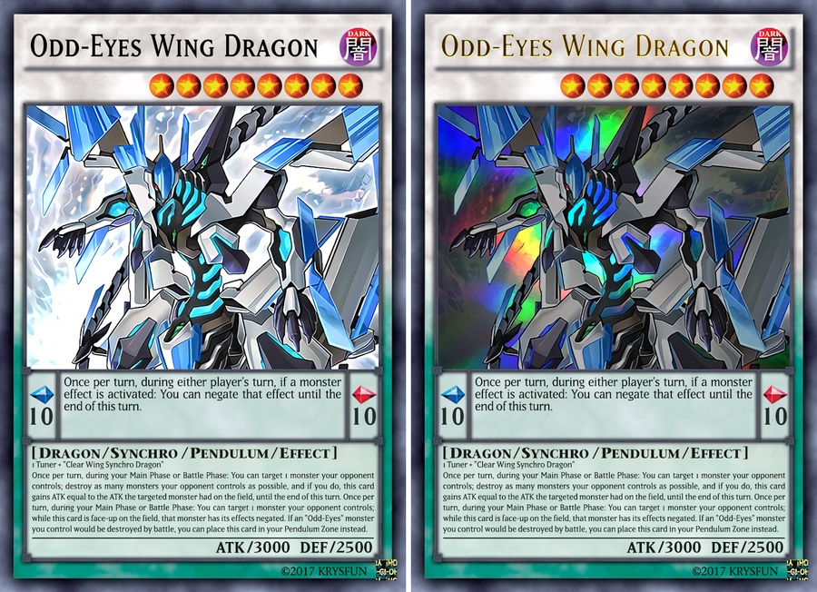 odd-eyes wing dragon vs clear wing fast dragon Odd_eyes_wing_dragon__ur__by_krysfun-db3plr9