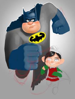 Wreck-It Ralph / Batman mashup