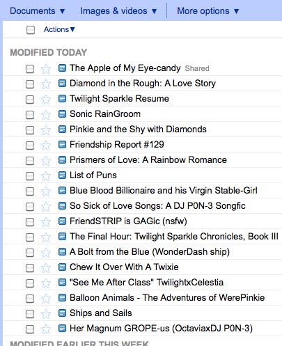 Twilight Sparkle's Google Docs by SherclopPones