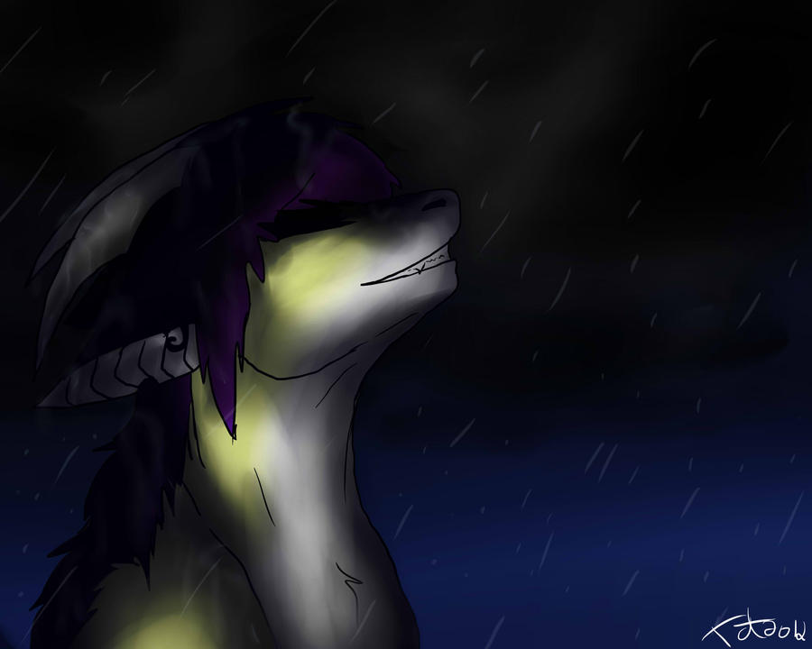 -In the rain- by Shadyyayay
