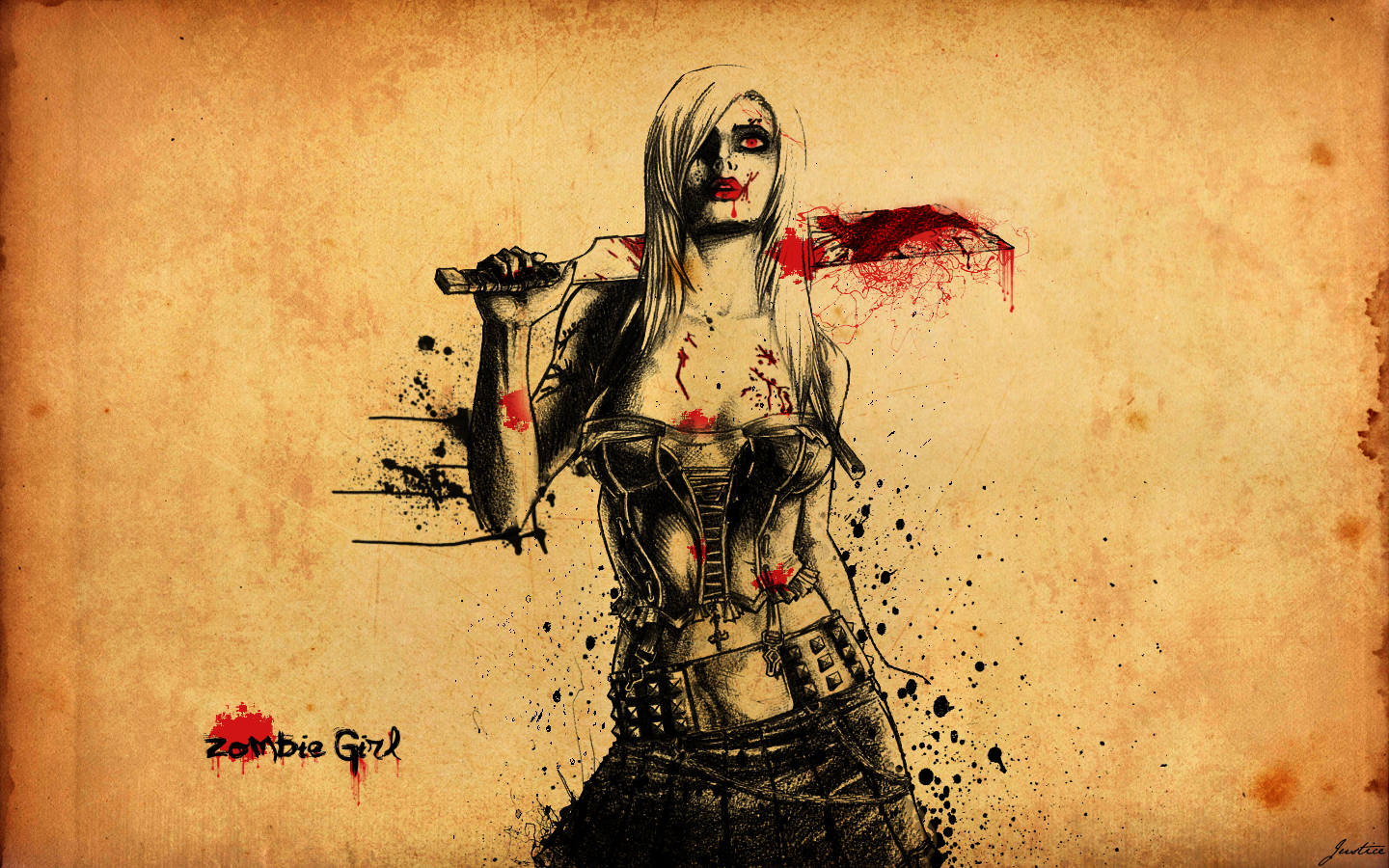 zombie girl by justicebleeds on deviantart