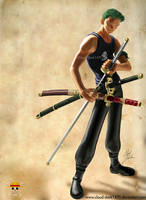Zoro - Swordman by cloud-dark1470