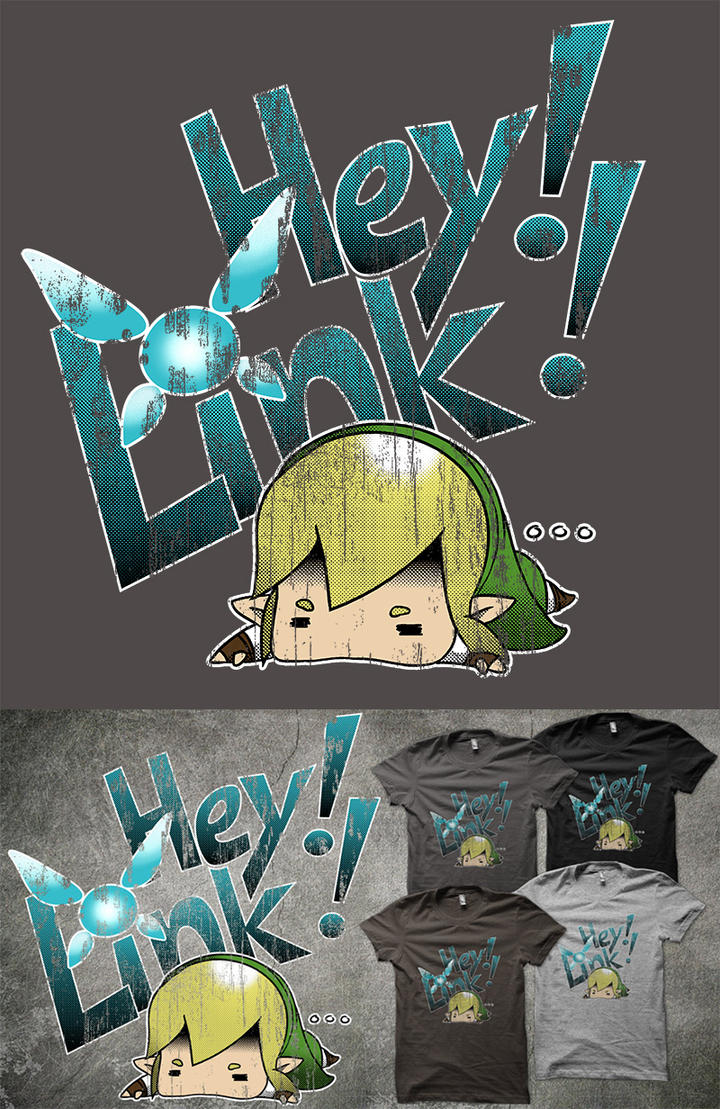 Hey! Link! - time to vote on qwertee by cloud-dark1470